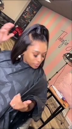 Pretty but simple sew in weave hairstyles, fast hairstyles, black girls hairstyles, ponytail Ponytail Styles, Ponytail Hairstyles, Curly Hair Styles, Natural Hair Styles, Updo Curly, Natural Hair Weaves, Long Ponytails, Frontal Hairstyles, Black Girls Hairstyles
