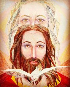 The Holy Trinity, God the Father, God the Son, God the Spirit Religious Pictures, Jesus Pictures, Catholic Art, Religious Art, Jesus Is Lord, Jesus Christ, Religion Catolica, Special Prayers, Jesus Art