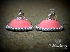 Pale Pink Quilling Jhumka
