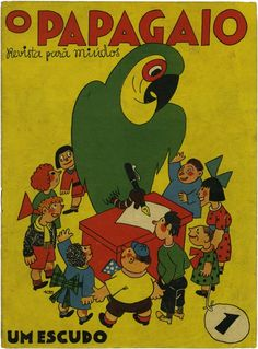 "Thomaz de Mello, illustration for the Portuguese  kids magazine ""O Papagaio"""