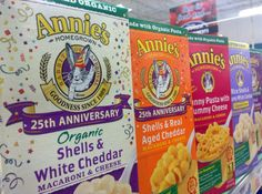 One of the last large independently owned organic and natural foods brands will join the big food conglomerate General Mills. Annie's Homegrown, known for its rabbit-shaped macaroni and cheese mixes and other packaged foods for kids will take $820 million from the food giant.