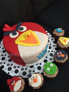 Angry birds cake pastel angry birds Cupcakes angry birds  www.sweetlifecr.com