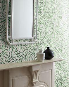 Green details   Priano Wallpaper via Serena & Lily