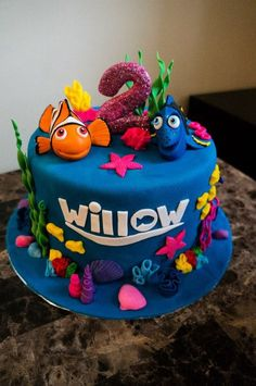 Nemo and Dory Cake - by Sweetessa @ CakesDecor.com - cake decorating website