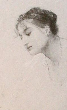 Study of a Head, 1885, Gustav Klimt. Austrian (1862-1918)
