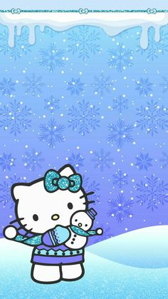 Cute Pink Background, Gold Wallpaper Background, Winter Wallpaper, Cute Wallpaper Backgrounds, Pretty Wallpapers, Phone Wallpapers, Hello Kitty Iphone Wallpaper, Hello Kitty Backgrounds, Hello Kitty Christmas