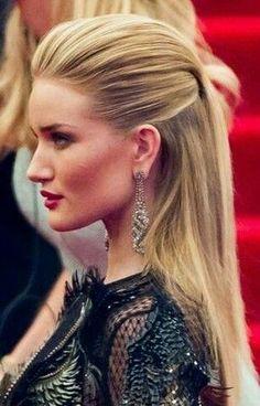 Hairstyles – # Hairstyles - New Site Sleek Hair Updo, Sleek Hairstyles, Straight Hairstyles, Wedding Hairstyles, Bridesmaid Hair, Prom Hair, Slick Straight Hair, Rehearsal Dinner Hair, Vegas Hair