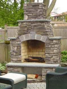 Fireplaces for the outdoor living area