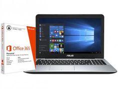 Notebook Asus X555LF Intel Core i5 - 6GB 1TB Windows 10 + Pacote Office 365 Personal com as melhores condições você encontra no Magazine Linhatotal. Confira!