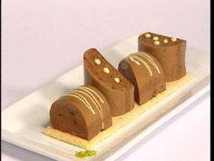 Parfait de chocolate y jengibre con biscuit capuccine de lima