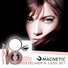 Magnetic Eyelashes And Eyeliner Kit Fake Lashes, False Eyelashes, Feather Eyelashes, Eyelash Kit, Lash Up, Magnetic Lashes, Eye Liner Tricks, Beauty Makeup Tips, Beauty Hacks