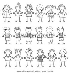 Similar images, stock photos, and vector graphics of happy cartoon doodle collec. - Similar images, stock photos, and vector graphics of happy cartoon doodle collection – 135711410 - Funny Kid Drawings, Art Drawings For Kids, Doodle Drawings, Drawing For Kids, Easy Drawings, Doodle Art, Art For Kids, Doodle Kids, Children Drawing