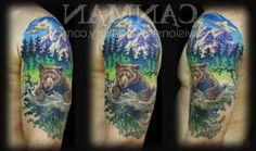 Nature tattoo sleeve bear Ideas for 2019 - # Mountain Sleeve Tattoo, Mountain Range Tattoo, Nature Tattoo Sleeve, Sleeve Tattoos, Tattoo Nature, Tattoo Sleeves, Trendy Tattoos, Tattoos For Guys, Tattoos For Women