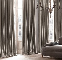 RH's Vintage Velvet Drapery:Woven by JB Martin, a 200-year-old, family-owned company that specializes in velvet, our fabric offers an ultra-soft hand and rich color with vintage appeal. Crafted of pure cotton velvet, its rich folds, subtle sheen and complex character confer elegance and sophistication.