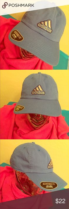 🆕 Adidas Ultimate Relaxed Cap Authentic Adidas Ultimate Relaxed Cap. Adult Unisex. OS. Climalite. Ray Blue. On the Front, Embroidered Grey Adidas Logo with Blue. Bill is Black on the Inside. Vented. Adjustable Back. Blue/ Black Adjustable Strap with Gun Metal Adidas Logo Tab. Brand New. Excellent Condition. No Trades. Adidas Accessories Hats