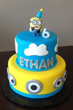 Minion Birthday Cake by The Crafty Cakery. You'll find this Cake Appreciation Society Member in our Directory at www.cakeappreciationsociety.com