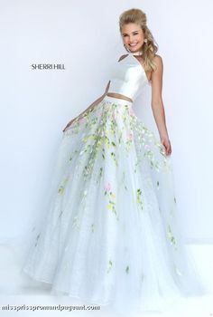 Homecomingbygirl :: High Quality Authorized : Princess 50196 Sherri Hill Two Piece Prom Dress 2016 - Homecoming Dresses Prom Dresses Evening Gowns Cocktail Dresses Ball Gown Dresses Quinceanera Dresses Party Dresses Graduation Dresses Pageant Dresses Prom Dresses 2016, Sherri Hill Prom Dresses, Dance Dresses, Formal Dresses, Prom 2016, Wedding Dresses, Formal Prom, Prom Dresses Flowers, Prom Long
