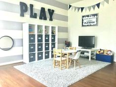 Boys Playroom by Ashleigh Nicole Events is part of Playroom Organization Baby - A boys playroom I love setting up my three little boys space first It gives them a place to play and feel comfortable