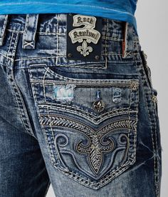 Rock Revival Regan Relaxed Straight 17 Jean - Men's Jeans in Regan Affliction Clothing, Shoes With Jeans, High Jeans, Men's Jeans, Buckle Jeans, Jeans Rock Revival, Rock Style Men, Flannel Lined Jeans, Badass Outfit