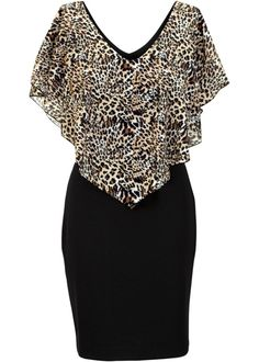 Jurk, BODYFLIRT boutique, zwart luipaardprint ❤ Pinned by Cindy Vermeulen. Please check out my other 'sexy' boards. Dress Outfits, Casual Dresses, Short Dresses, Fashion Dresses, Fashion Sewing, Girl Fashion, Womens Fashion, Elisa Cavaletti, Mode Glamour