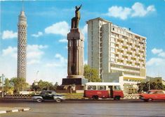 ميدان #سعد_زغلول و برج #القاهرة في الستينيات #Egypt #Cairo #60s #مصر Cairo Tower, Cairo Egypt, Vintage Pictures, Middle East, Egyptian, Architecture, Building, Places, Classic