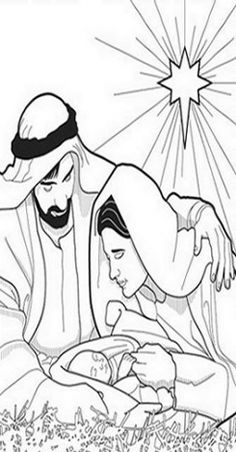 Christmas Nativity Kids Coloring Pages with Free Colouring Pictures to Print - New Baby