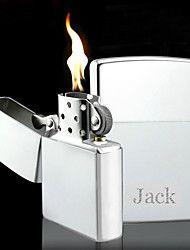 Kişiselleştirilmiş İşlemeli Gümüş Petrol Çakmak