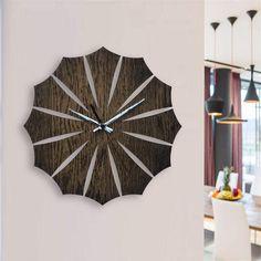 UNIQUE Grande En Bois Horloge murale ronde rustique traditionnelle en chêne