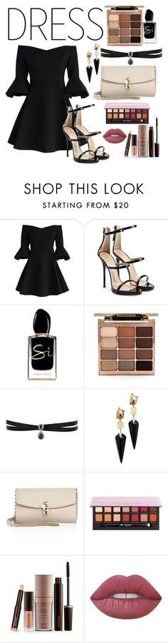 """Dress to Impress"" by abbigailkb13 ❤ liked on Polyvore featuring Chicwish, Giuseppe Zanotti, Giorgio Armani, Stila, Fallon, Alexis Bittar, Dolce&Gabbana, Laura Mercier and Lime Crime"
