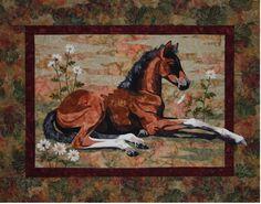 resting foal quilt