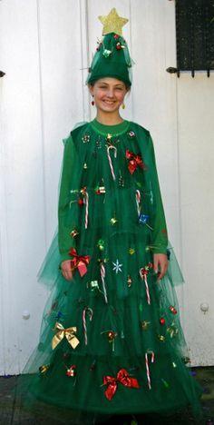 Christmas tree costume ideas 10 home made christmas tree christmas tree costume for a could do this for halloween and christmas aswell solutioingenieria Gallery