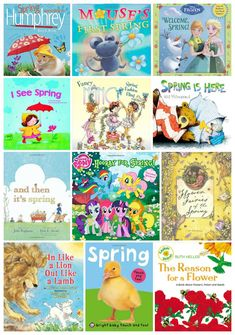 Amazing Spring Books for Kids - Natural Beach Living Preschool Books, Preschool Curriculum, Kindergarten Teachers, Preschool Crafts, Homeschooling, Spring Activities, Toddler Activities, Activities For Kids, Toddler Themes