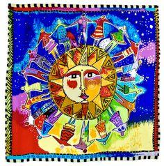 Foulard en soie satin bleu soleil premium 90 x 90 cm - Foulard/Foulard soie carré - Mes Echarpes