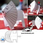 valentine bear papercraft templates