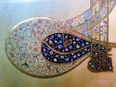No photo description available. Persian Pattern, Persian Motifs, Arabic Pattern, Persian Calligraphy, Islamic Calligraphy, Calligraphy Art, Arabesque, Ancient Persia, Turkish Art