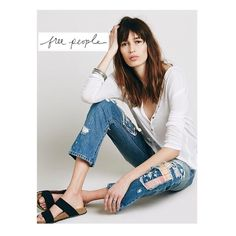 Free People Patchwork Jean Faded, distressed detail. Slits at cuffs. Zip fly with button closure. Cotton. Machine wash cold. Free People Jeans