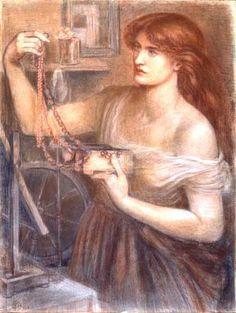 Dante Gabriel Rossetti,Risen at Dawn(or Gretchen Discovering the Jewels)