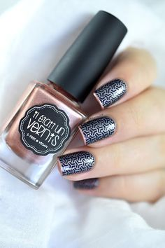 Marine Loves Polish: (Presque) Nailstorming - Deuxième chance - Stamping MoYou Suki 15 - IEUV All is Gold - French manicure