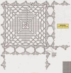 blue squares crochet quilt pattern 2