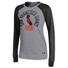 99de8d1222a794 San Francisco Giants Under Armour Women s Great Escape Tri-Blend Baseball  Long Sleeve Performance T-Shirt - Gray Black