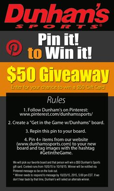 Pin it to win it Sweepstakes. CLOSED