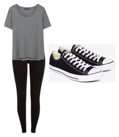 Week 1 #school by x-bieber-ol-x on Polyvore featuring polyvore, moda, style, MANGO, Converse, fashion and clothing