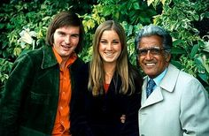 With Jimmy Connors and his coach Pancho Segura, Wimbledon 1974