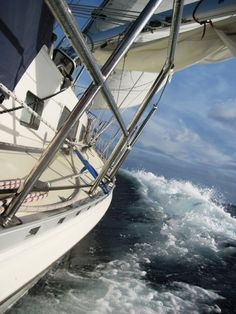 Preparing for heavy sailing weather before it arrives!
