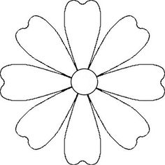Vector image of a white daisy petals without stem and leaves. Color graphics of white margerita.Flower Daisy 8 petal template by A flower that could be a daisy or other simple 8 petal flower. It is made from a 8 petal symmetrical template. Wooden Flowers, Paper Flowers Diy, Flower Crafts, Fabric Flowers, Paper Butterflies, Felt Flower Template, Leaf Template, Flower Template Printable, Crown Template