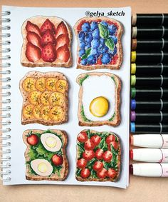 pencil drawings of love Realistic Drawings, Art Drawings Sketches, Kawaii Drawings, Colorful Drawings, Pencil Drawings, Copic Marker Art, Copic Art, Recipe Drawing, Food Sketch