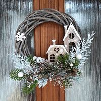Country Christmas Decorations, Christmas Door Wreaths, Christmas Porch, Christmas Centerpieces, Xmas Decorations, Winter Christmas, Christmas Home, Christmas Ornaments, Xmas Crafts