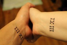 @Aunaleis Beshara Wessel I had this really cool idea for a sister/sibling tattoo. We (including Jerry maybe) could get tattoos of roman numerals, 1-4 , in order of our births. Nessa would be 1 and i would get 4. Just a thought