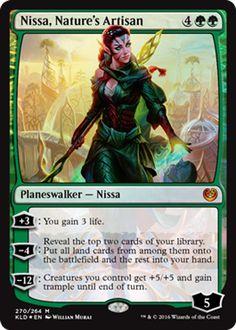 Nissa, Nature's Artisan green planeswalker Magic the Gathering card