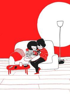15Ilustraciones que retratan los gestos más espontáneos del amor